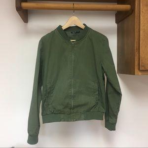 Brandy Melville Army Green Bomber Jacket